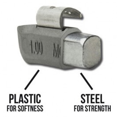 PLOMBCO PLASTEEL Clip-On Wheel Weights