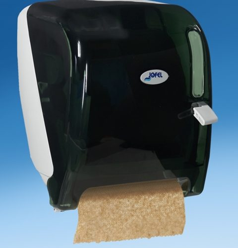 DISPENSER FOR WHITE AND BROWN HARD WOUND HAND TOWELS